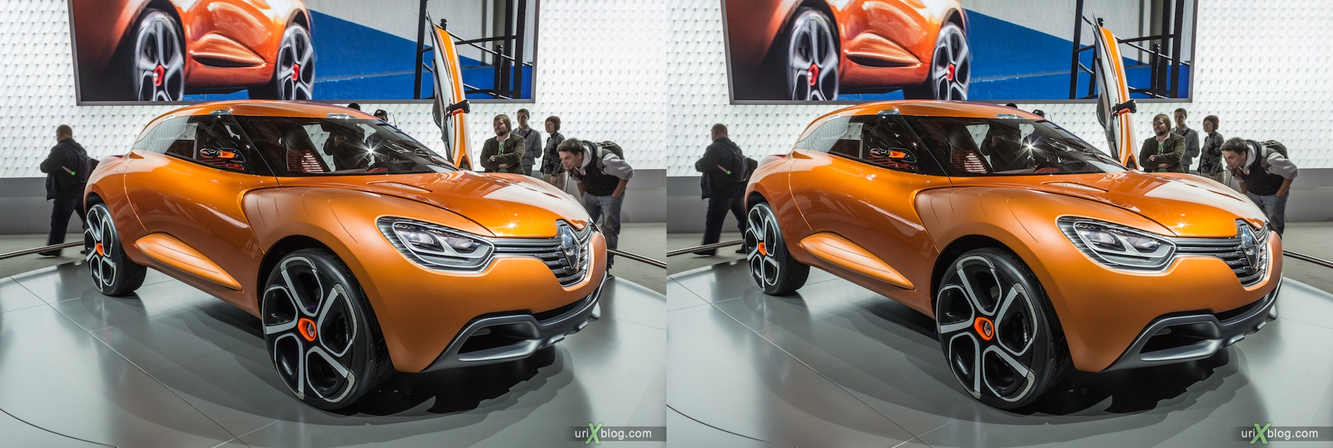 2012, Renault Captur, Moscow International Automobile Salon, auto show, 3D, stereo pair, cross-eyed, crossview