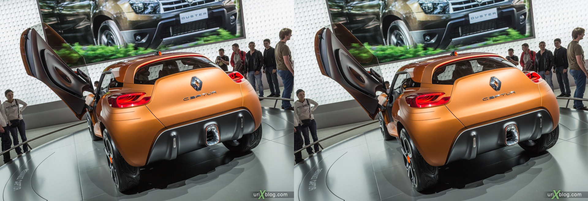 2012, Renault Captur, Московский международный автомобильный салон, ММАС, Крокус Экспо, 3D, стереопара