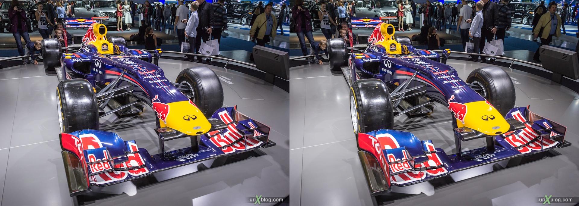 2012, Renault Furmula 1 F1, Московский международный автомобильный салон, ММАС, Крокус Экспо, 3D, стереопара