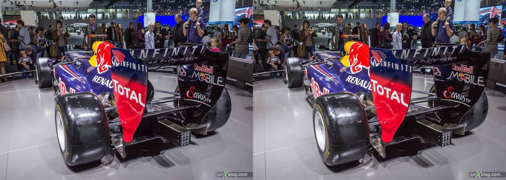 2012, Renault Furmula 1 F1, Moscow International Automobile Salon, auto show, 3D, stereo pair, cross-eyed, crossview