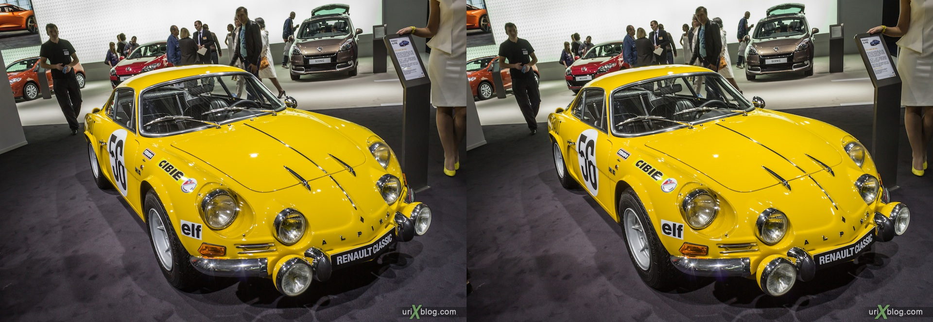 2012, Alpine Renault, Moscow International Automobile Salon, auto show, 3D, stereo pair, cross-eyed, crossview