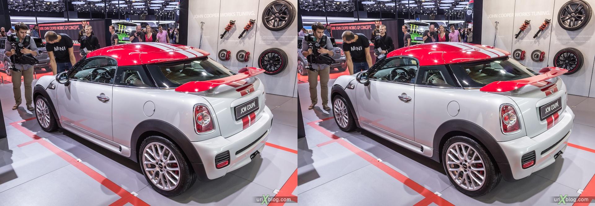 2012, JCW Coupe, Московский международный автомобильный салон, ММАС, Крокус Экспо, 3D, стереопара
