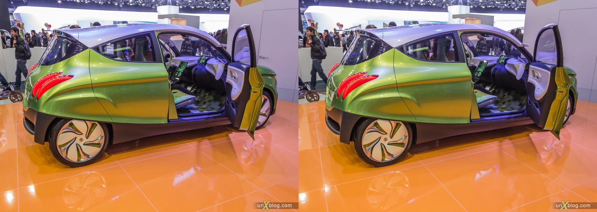 2012, Suzuki G70, Moscow International Automobile Salon, auto show, 3D, stereo pair, cross-eyed, crossview