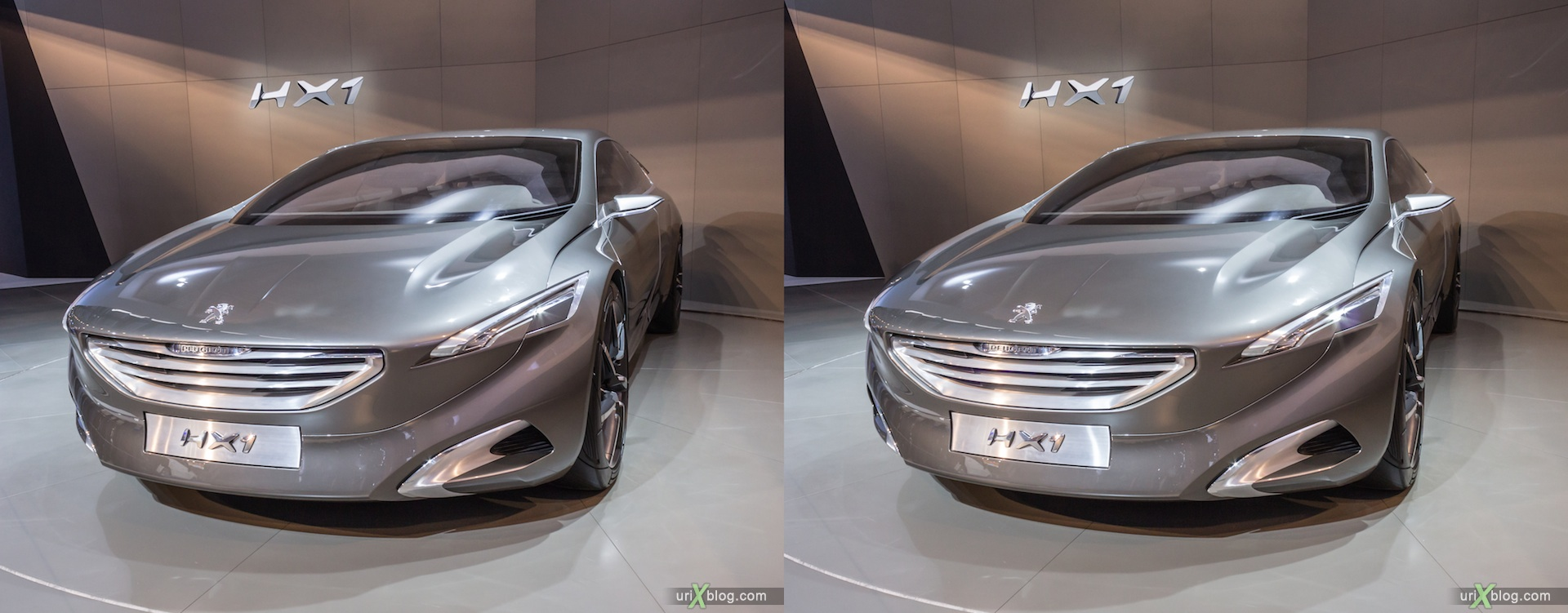 2012, Peugeot HX1, Moscow International Automobile Salon, auto show, 3D, stereo pair, cross-eyed, crossview