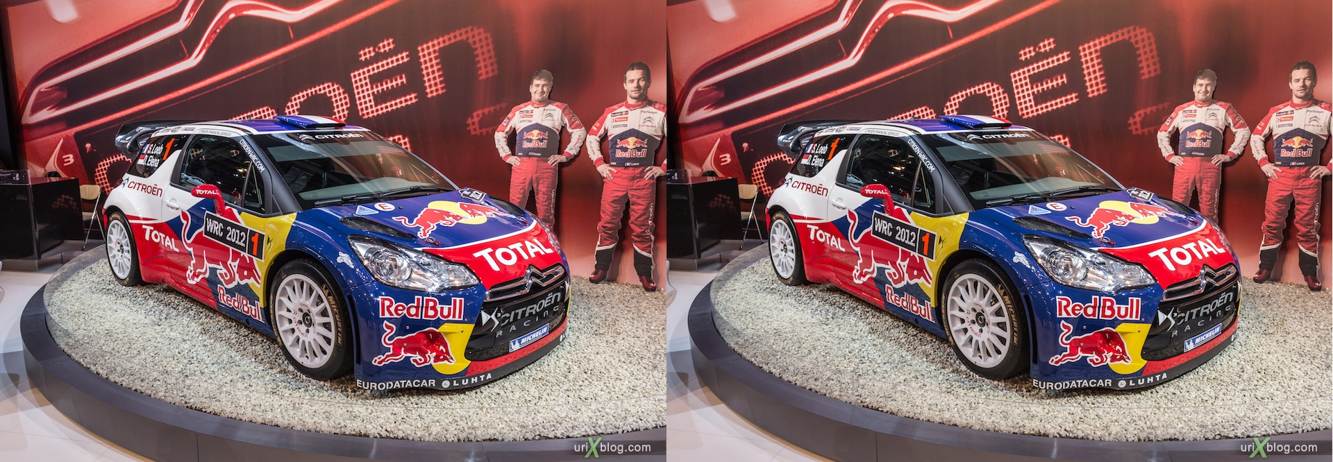 2012, Citroen Racing, Moscow International Automobile Salon, auto show, 3D, stereo pair, cross-eyed, crossview
