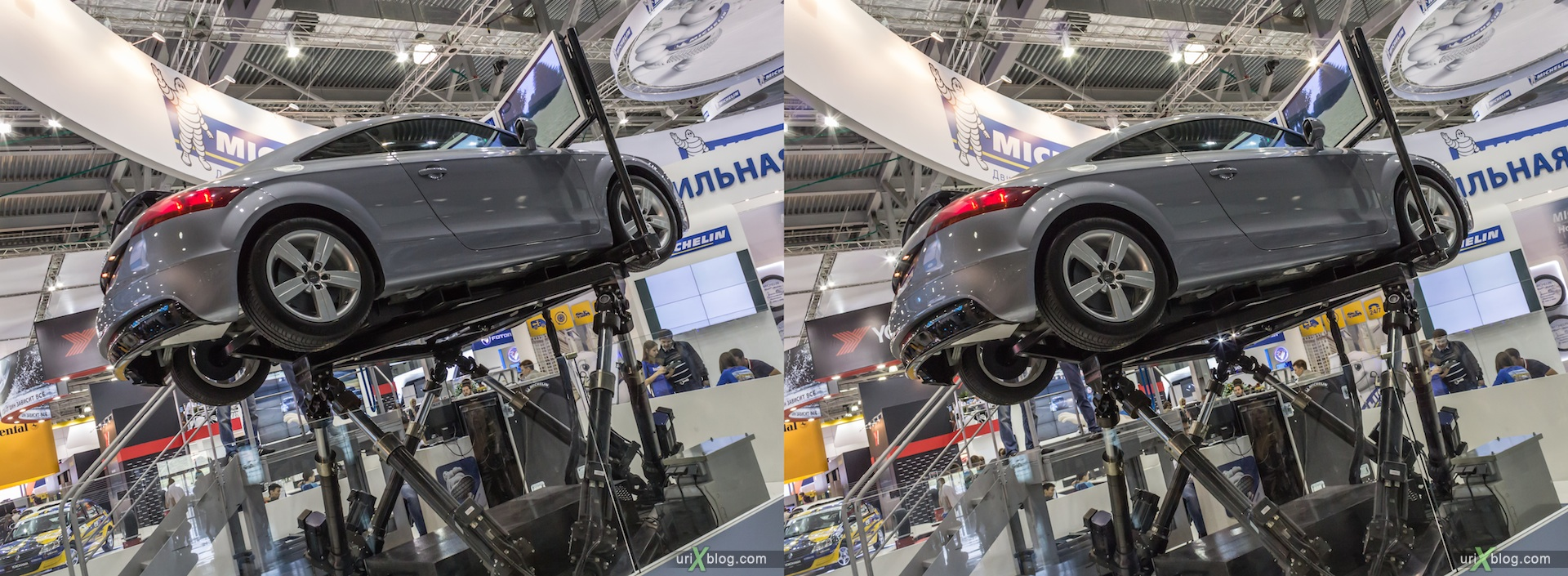 2012, Audi, Moscow International Automobile Salon, auto show, 3D, stereo pair, cross-eyed, crossview