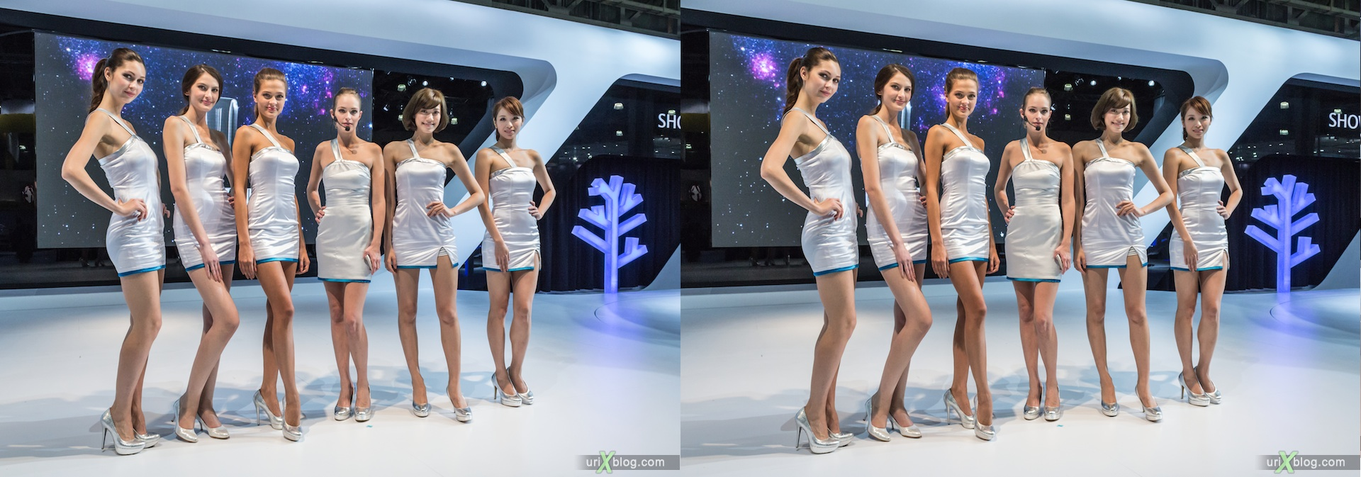 2012, Luxgen, Moscow International Automobile Salon, auto show, 3D, stereo pair, cross-eyed, crossview