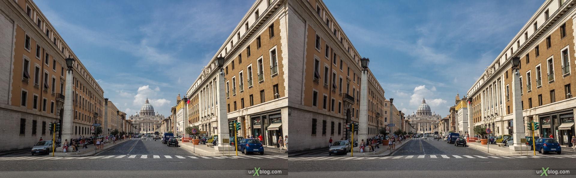 2012, Ватикан, Рим, Италия, 3D, перекрёстные стереопары, стерео, стереопара, стереопары