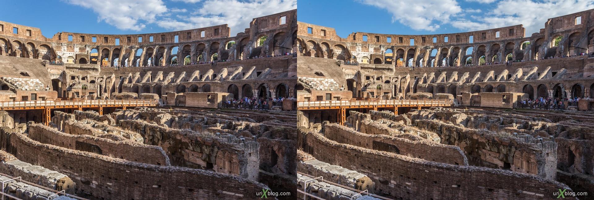 2012, Колизей, Рим, Италия, 3D, перекрёстные стереопары, стерео, стереопара, стереопары