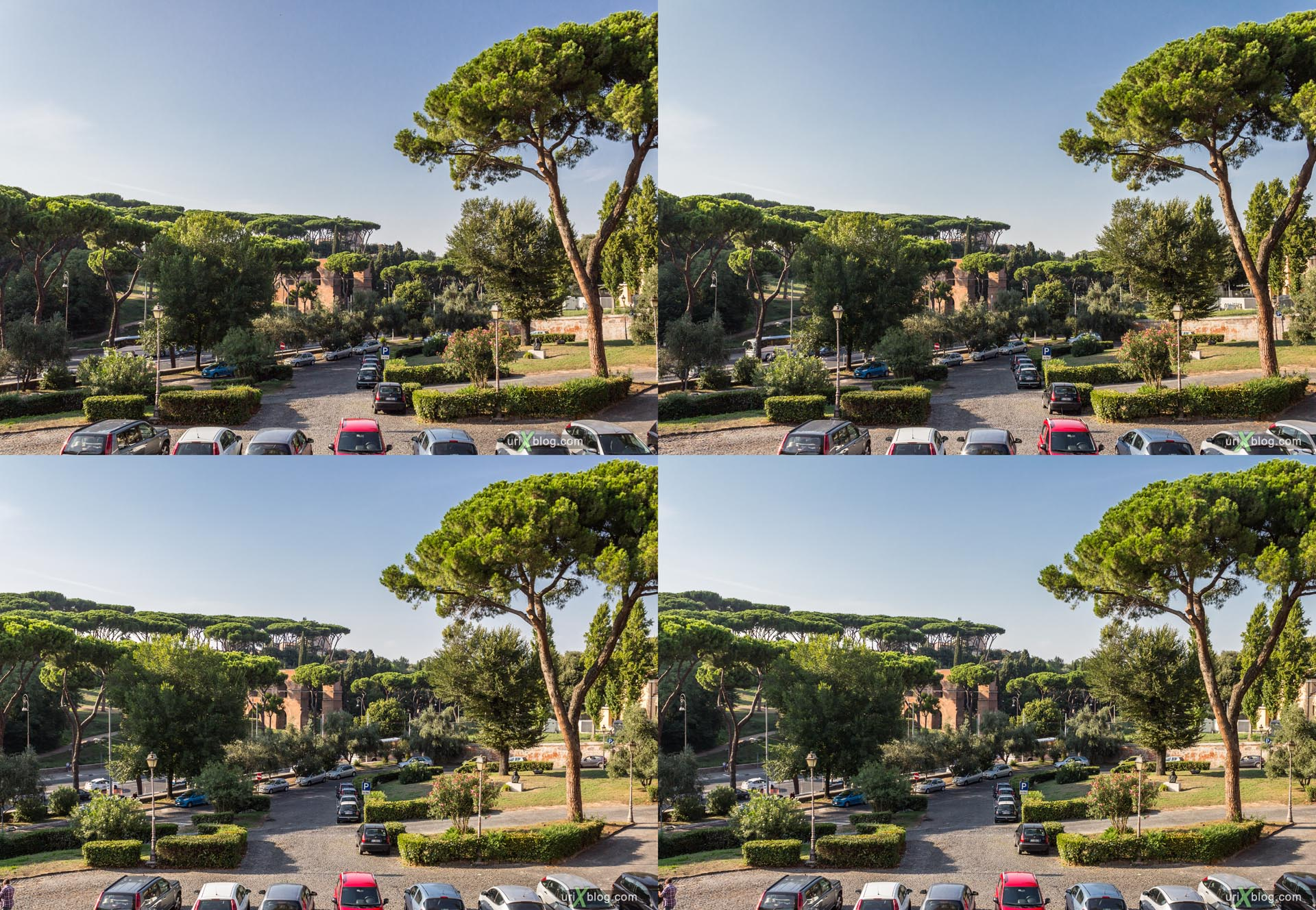 2012, Palatine hill, church, San Gregorio Magno al Celio, Rome, Italy, Europe, 3D, stereo pair, cross-eyed, crossview, cross view stereo pair