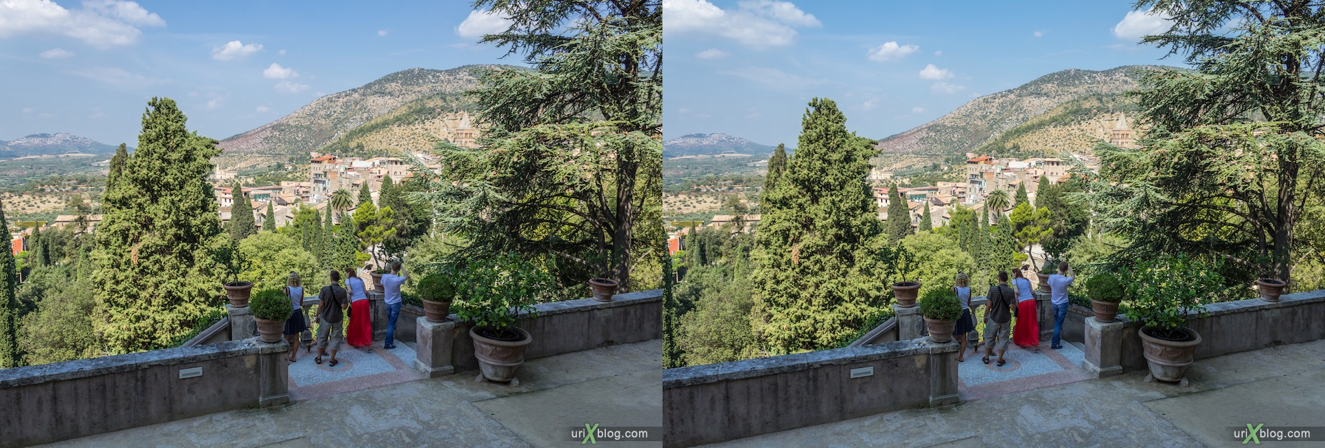2012, villa D'Este, Italy, Tivoli, Rome, 3D, stereo pair, cross-eyed, crossview, cross view stereo pair