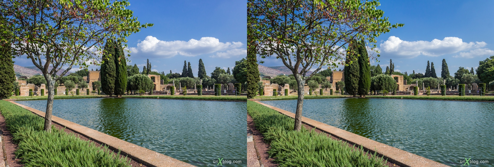 2012, Villa Adriana, Italy, Tivoli, Ancient Rome, 3D, stereo pair, cross-eyed, crossview, cross view stereo pair