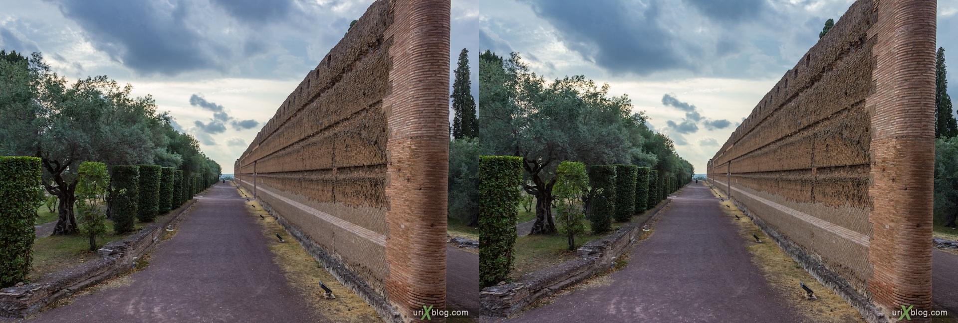 2012, Вилла Адриана, Тиволи, древний Рим, Италия, 3D, перекрёстные стереопары, стерео, стереопара, стереопары