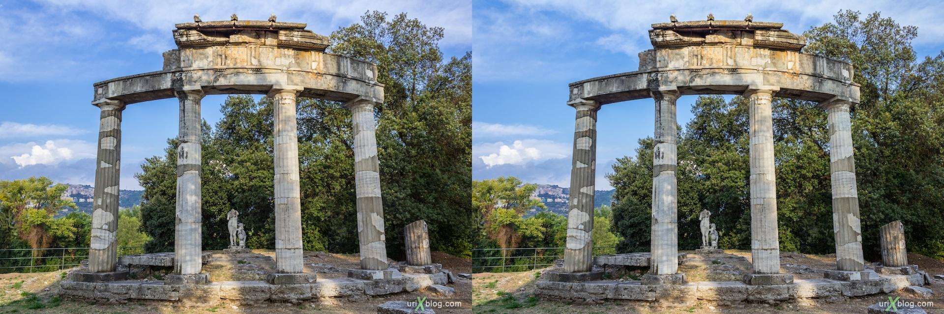 2012, Tempio di Venere, Villa Adriana, Italy, Tivoli, Ancient Rome, 3D, stereo pair, cross-eyed, crossview, cross view stereo pair