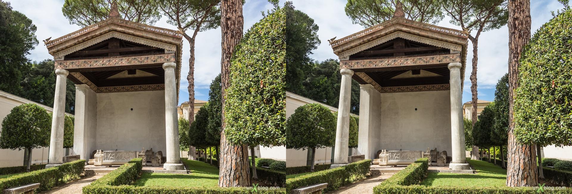 2012, вилла Джулия, музей Этрусков, Рим, Италия, 3D, перекрёстные стереопары, стерео, стереопара, стереопары
