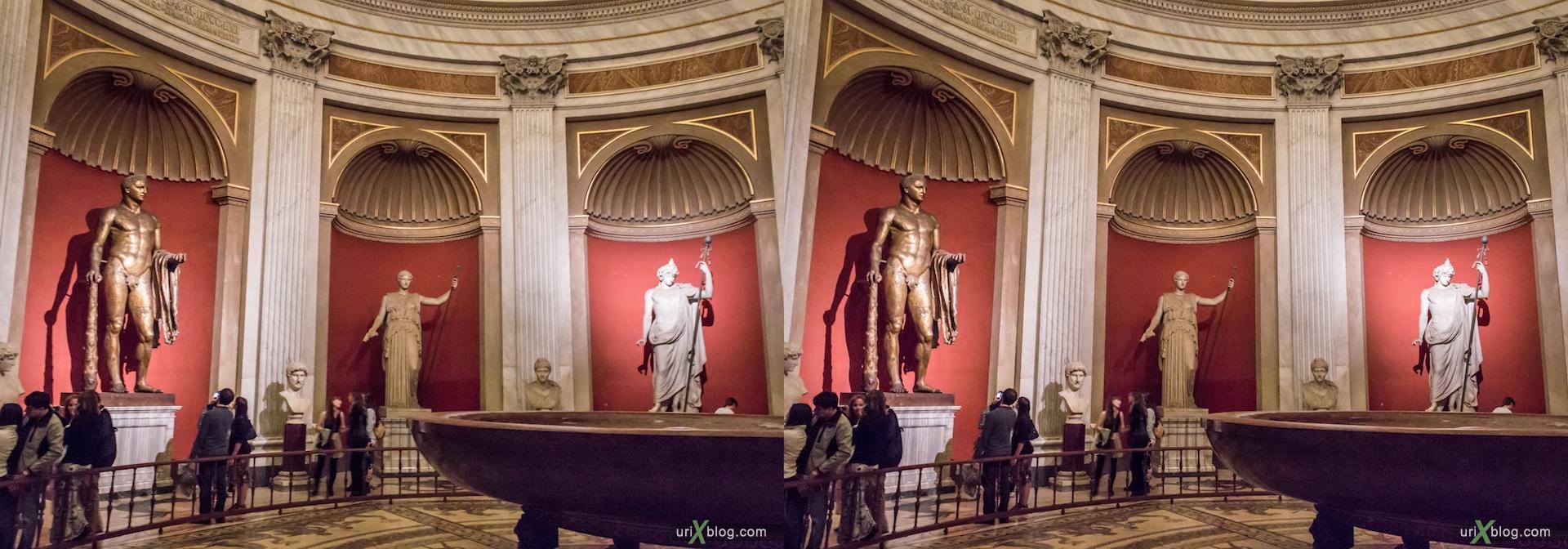 2012, музей, Ватикан, Рим, Италия, 3D, перекрёстные стереопары, стерео, стереопара, стереопары