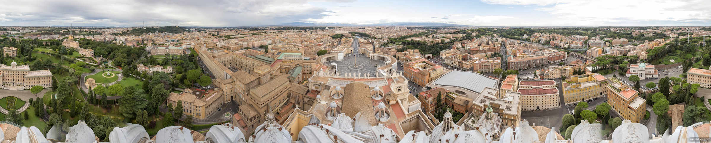 2012, собор святого Петра, Ватикан, Рим, Италия, панорама, Rome, Italy, Vatican, St. Peter's Basilica, panorama