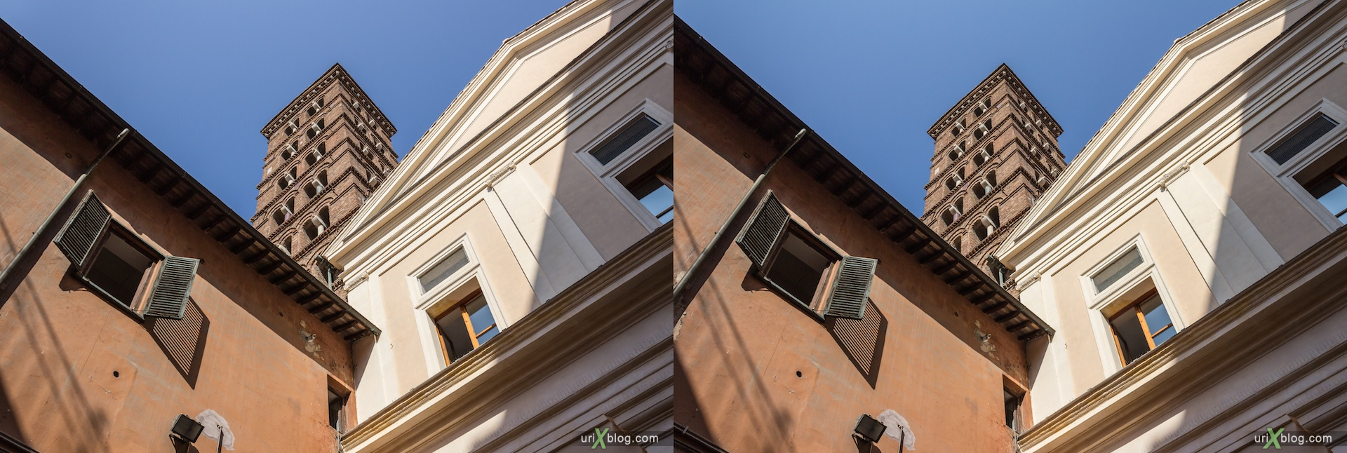 2012, church of San Silvestro in Capite, Rome, Italy, cathedral, monastery, Christianity, Catholicism, 3D, stereo pair, cross-eyed, crossview, cross view stereo pair