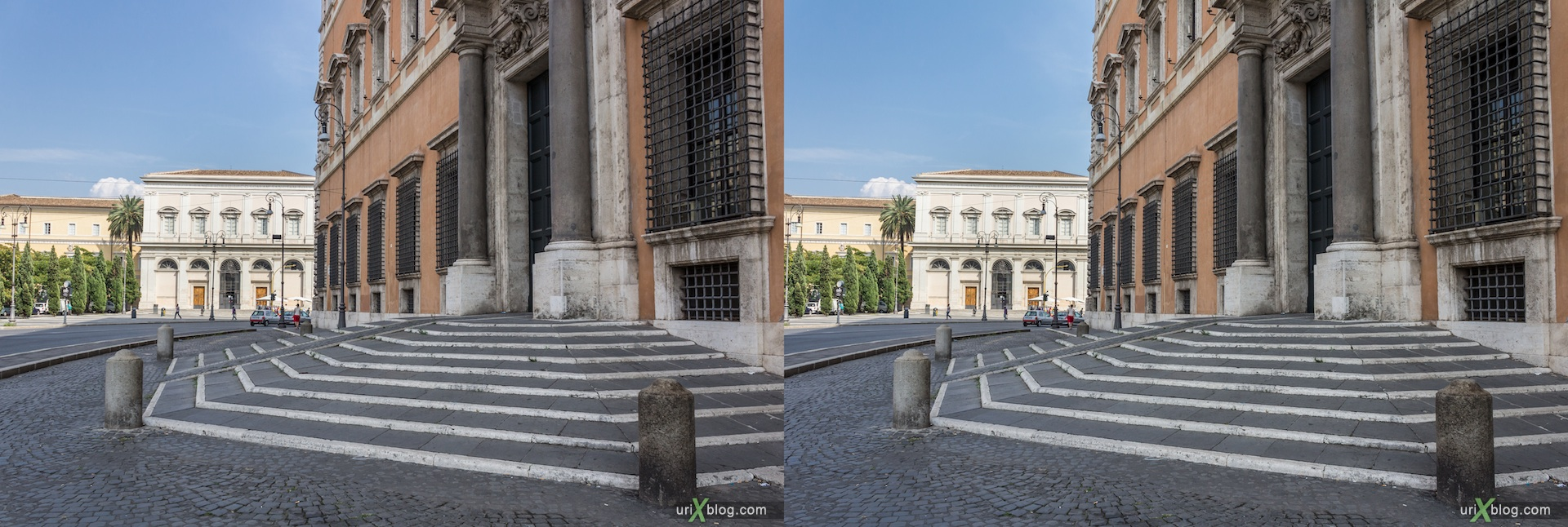 2012, Lateran Palace, church, basilica of San Giovanni in Laterano, Rome, Italy, cathedral, monastery, Christianity, Catholicism, 3D, stereo pair, cross-eyed, crossview, cross view stereo pair
