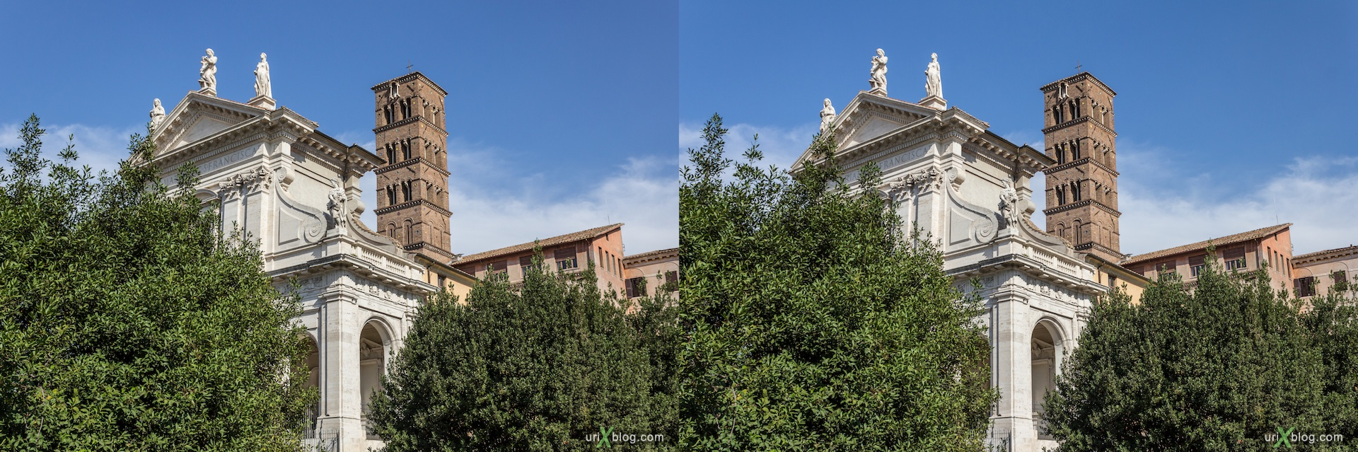 2012, church of Santa Francesca Romana, Rome, Italy, cathedral, monastery, Christianity, Catholicism, 3D, stereo pair, cross-eyed, crossview, cross view stereo pair