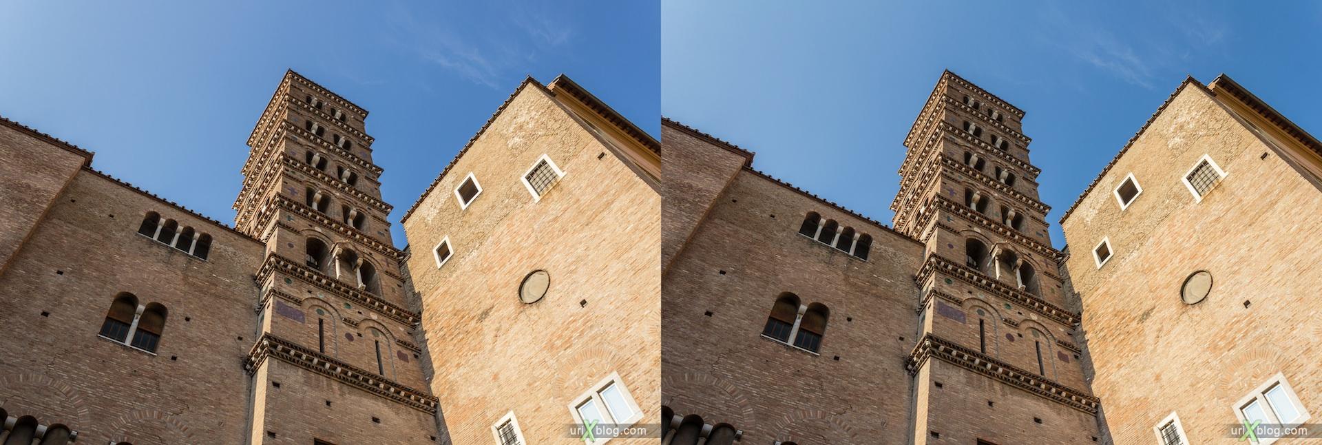 2012, церковь Санти-Джованни-э-Паоло, собор, христианство, католичество, Рим, Италия, осень, 3D, перекрёстные стереопары, стерео, стереопара, стереопары
