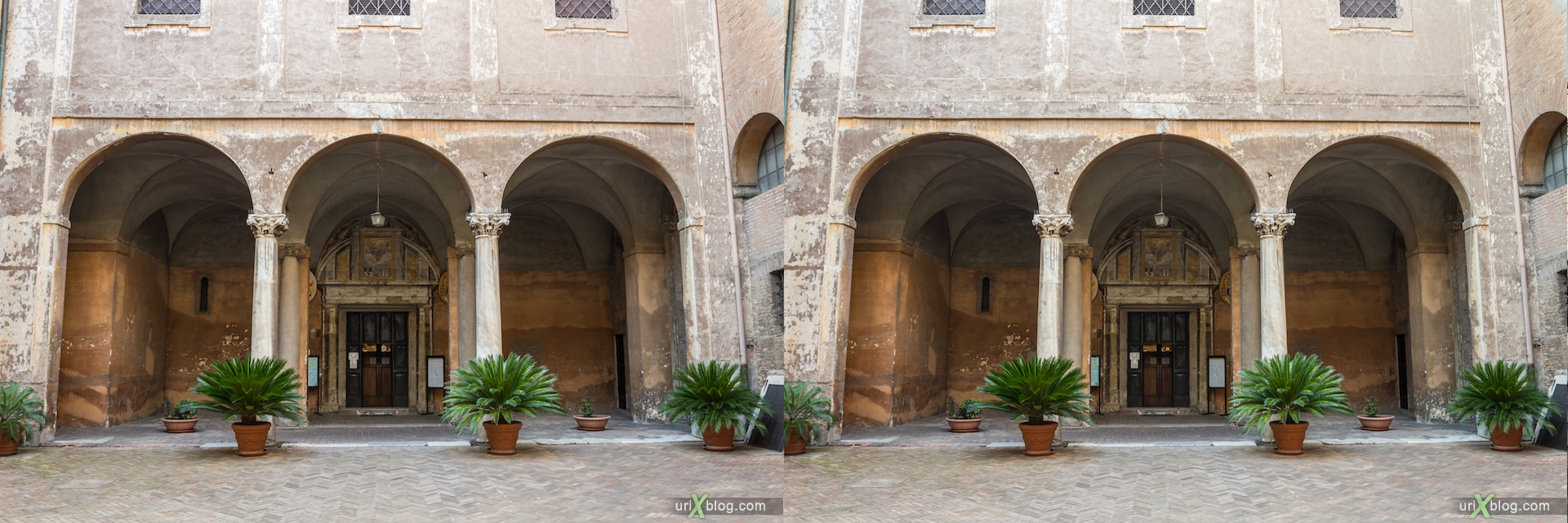 2012, Santi Quattro Coronati Church, Rome, Italy, cathedral, monastery, Christianity, Catholicism, 3D, stereo pair, cross-eyed, crossview, cross view stereo pair