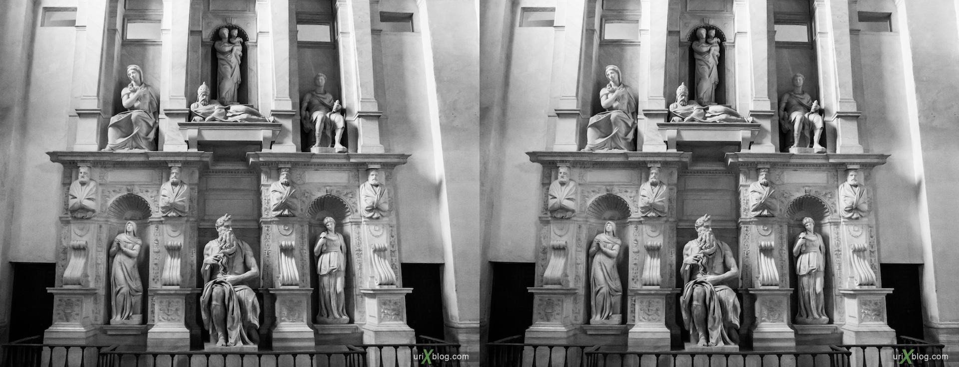 2012, церковь Сан Пьетро ин Винколи, собор, христианство, католичество, Рим, Италия, осень, 3D, перекрёстные стереопары, стерео, стереопара, стереопары