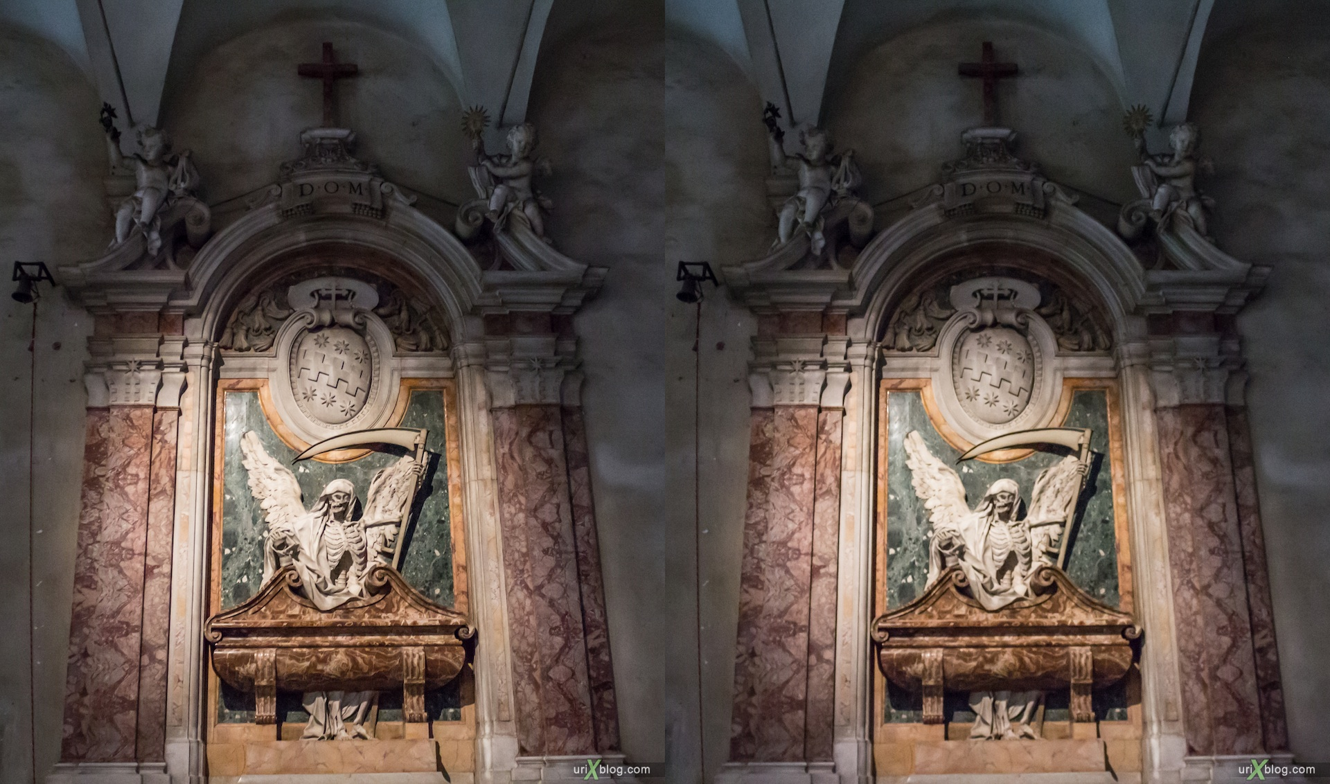 2012, church of San Pietro in Vincoli, Rome, Italy, cathedral, monastery, Christianity, Catholicism, 3D, stereo pair, cross-eyed, crossview, cross view stereo pair