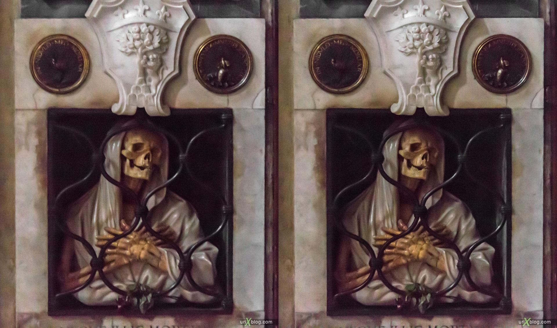 2012, церковь Санта Мария дель Пополо, собор, христианство, католичество, Рим, Италия, осень, 3D, перекрёстные стереопары, стерео, стереопара, стереопары