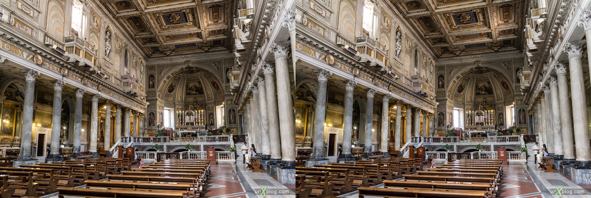 2012, church San Martino ai Monti, titolo Equizio, Rome, Italy, cathedral, monastery, Christianity, Catholicism, 3D, stereo pair, cross-eyed, crossview, cross view stereo pair