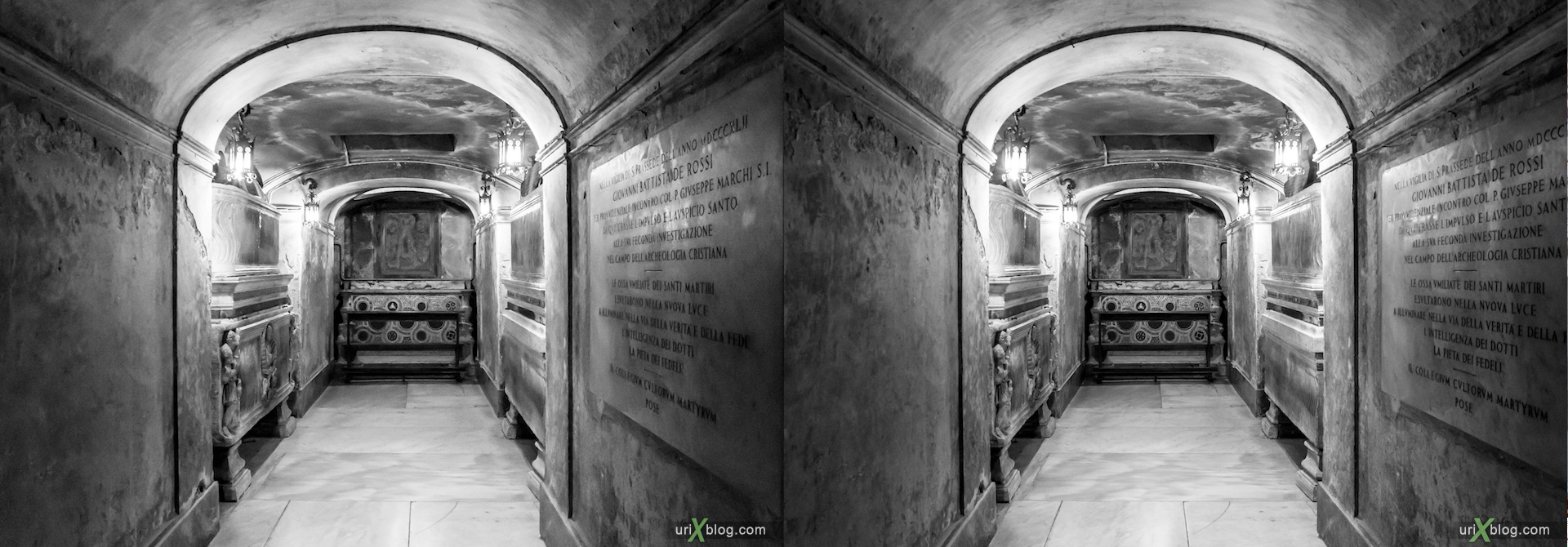 2012, Santa Prassede church, Rome, Italy, cathedral, monastery, Christianity, Catholicism, 3D, stereo pair, cross-eyed, crossview, cross view stereo pair