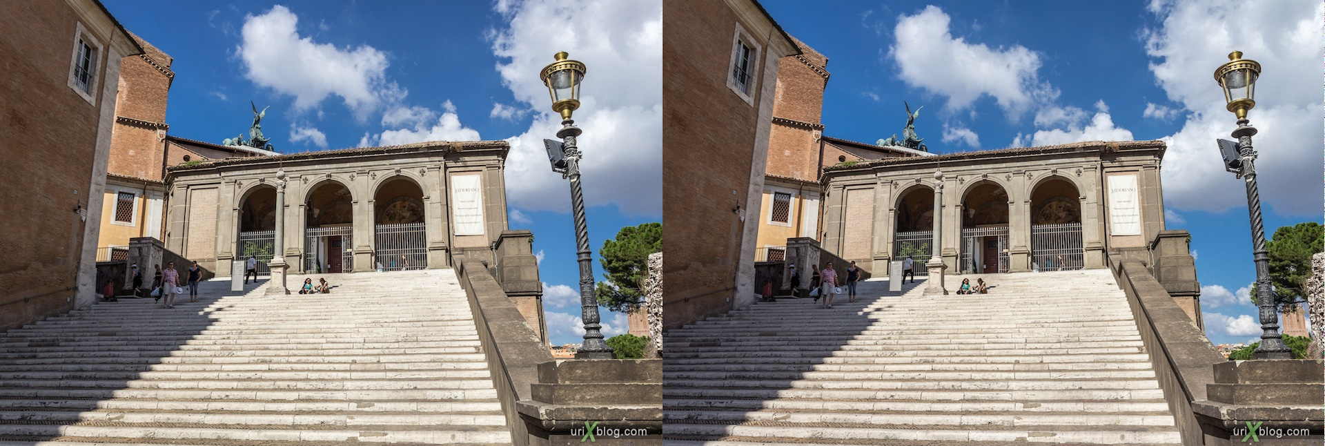 2012, church of Santa Maria in Aracoeli, Rome, Italy, cathedral, monastery, Christianity, Catholicism, 3D, stereo pair, cross-eyed, crossview, cross view stereo pair