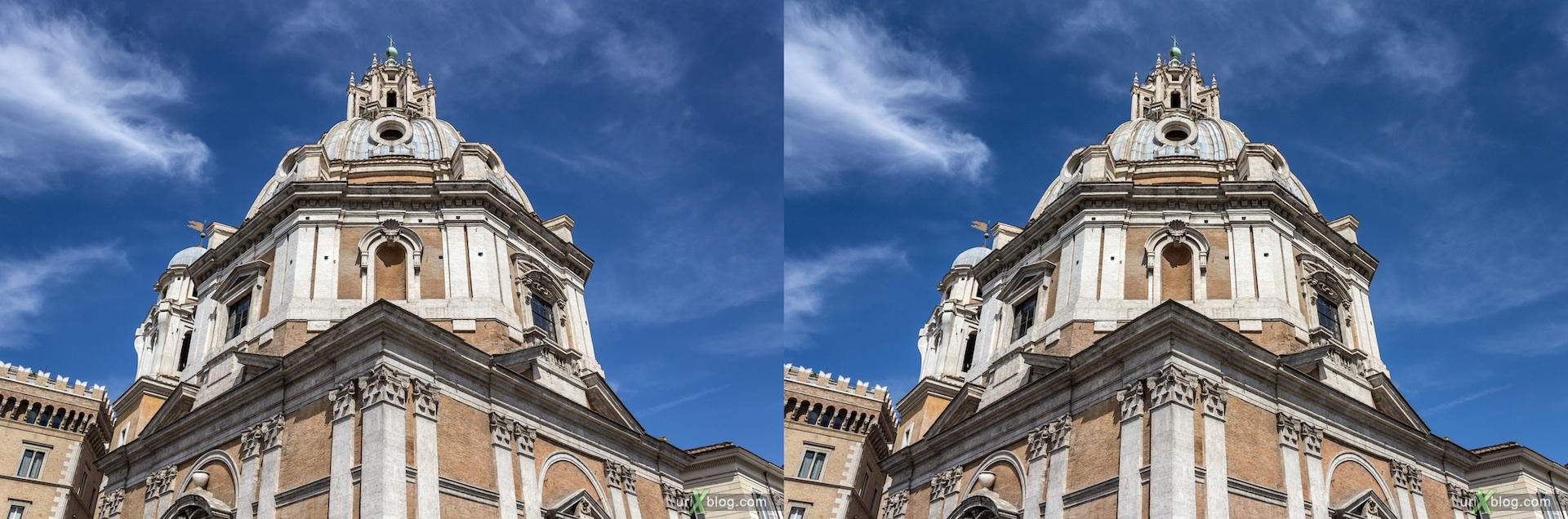 2012, Church of the Most Holy Name of Mary, Trajan forum, 3D, stereo pair, cross-eyed, crossview, cross view stereo pair