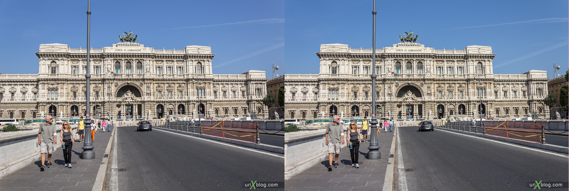 2012, Supreme Court of Cassation of Italy, ponte Umberto I bridge, 3D, stereo pair, cross-eyed, crossview, cross view stereo pair