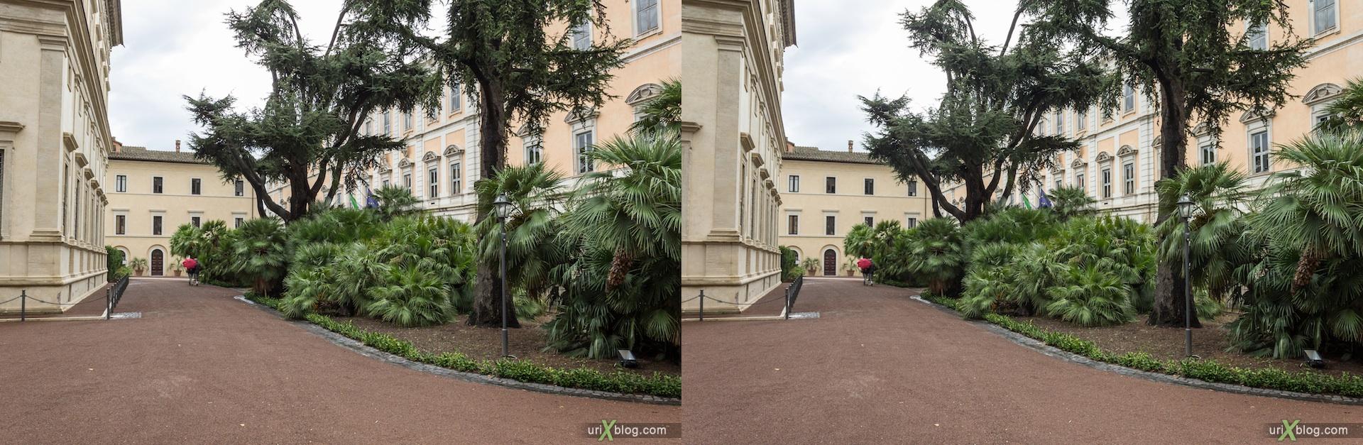 2012, Villa Farnesina, Rome, Italy, Europe, 3D, stereo pair, cross-eyed, crossview, cross view stereo pair