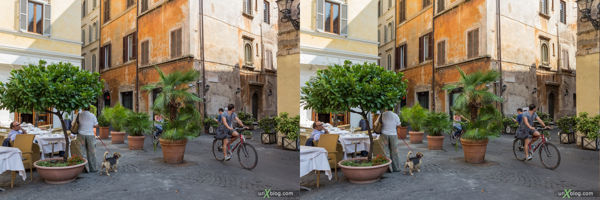 2012, Рим, Италия, Rome, Italy, улица Коронари, via dei Coronari, 3D, stereo pair, cross-eyed, crossview, стерео, стереопара