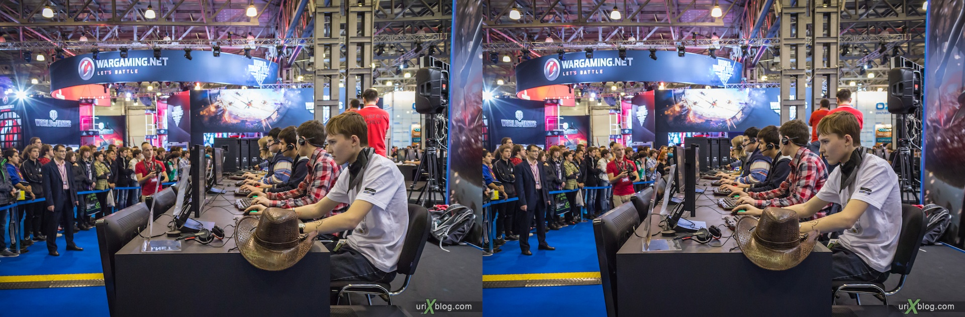 2012, Gameworld 2012 at Moscow, Crocus Expo, 3D, stereo pair, cross-eyed, crossview, cross view stereo pair