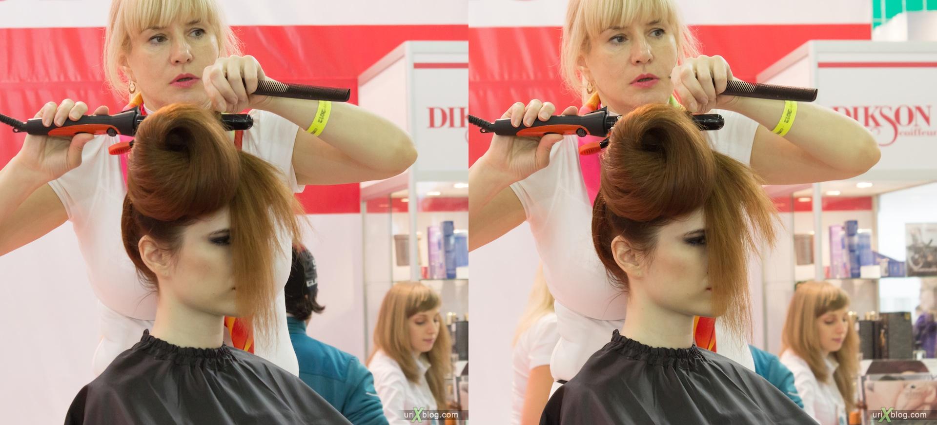 2012, interCharm, выставка, Крокус Экспо, Москва, девушки, модели, 3D, перекрёстные стереопары, стерео, стереопара, стереопары
