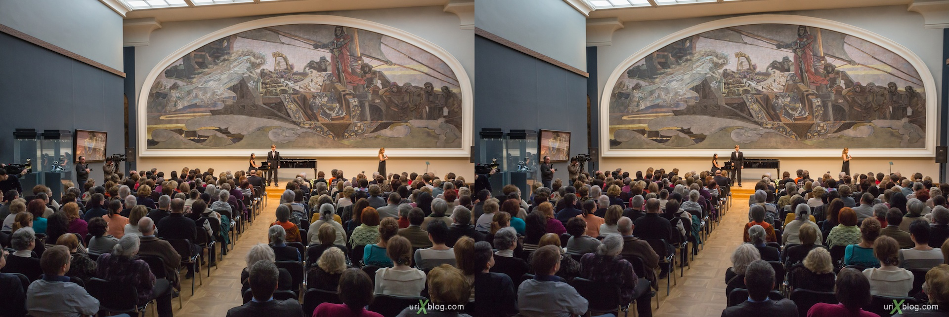 2012, Vrubel Hall, Tretyakov Gallery, Moscow, Russia, 3D, stereo pair, cross-eyed, crossview, cross view stereo pair