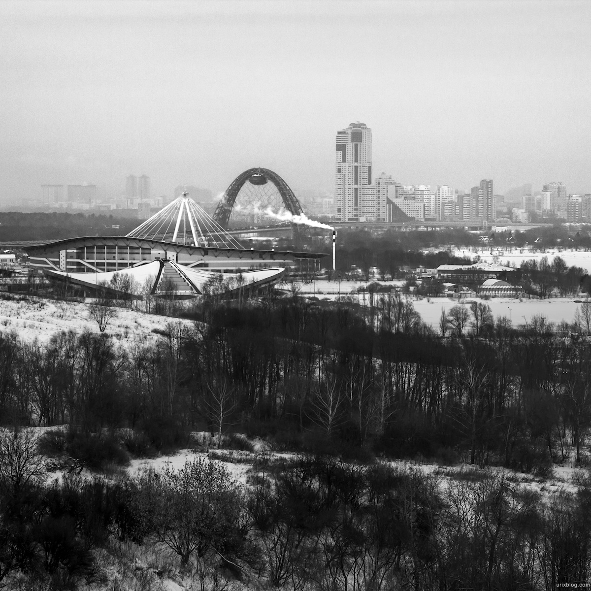 2012, Krylatsky hills, Moscow, Russia, winter, snow, Zhivopisny bridge