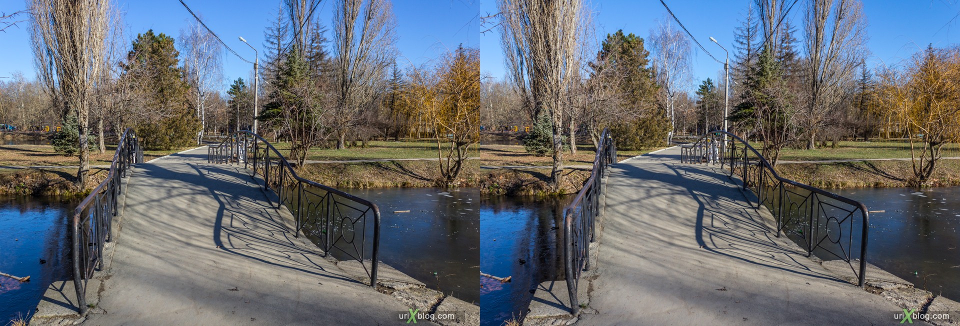 2012, Simferopol, Gagarin park, Crimea, Russia, Ukraine, winter, 3D, stereo pair, cross-eyed, crossview, cross view stereo pair, stereoscopic