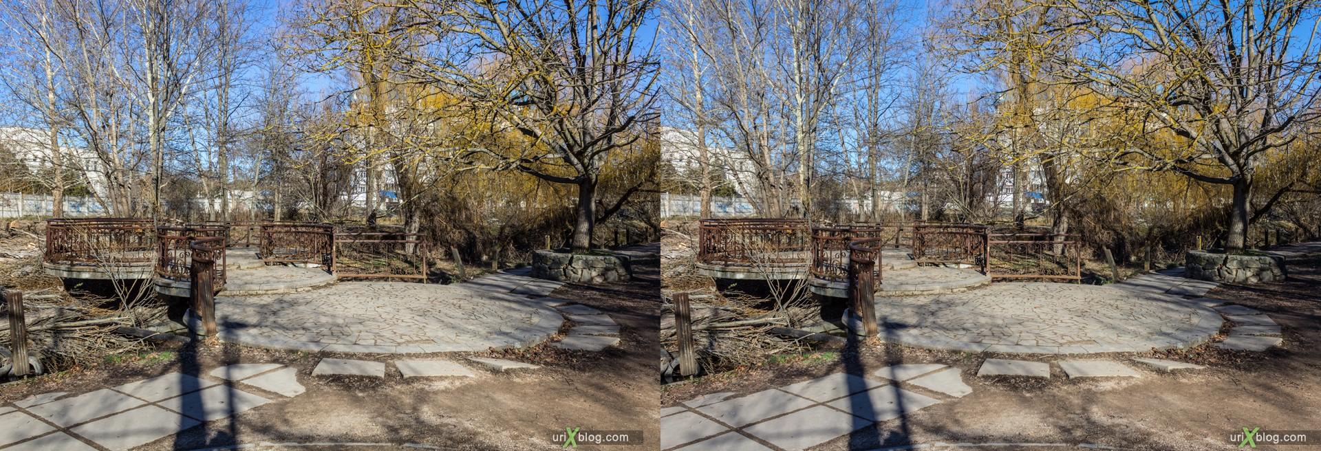 2012, bridge, Simferopol, Gagarin park, Crimea, Russia, Ukraine, winter, 3D, stereo pair, cross-eyed, crossview, cross view stereo pair, stereoscopic