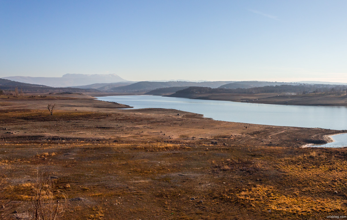 2013, Water, Reservoir, Simferopol, Ukraine, Crimea, drought, winter