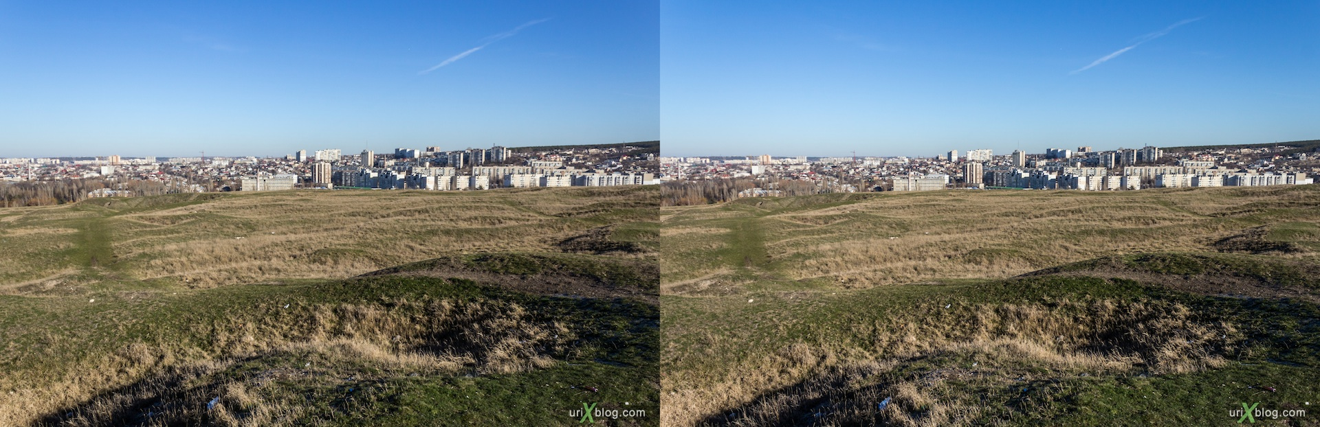 2013, Scythian Neapolis, excavations, field, Petrovsky rocks, Simferopol, Crimea, Ukraine, 3D, stereo pair, cross-eyed, crossview, cross view stereo pair