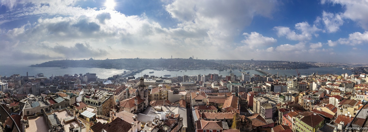 2013, Galata tower, panorama, Bosphorus, Istanbul, Turkey, sea, ships, winter