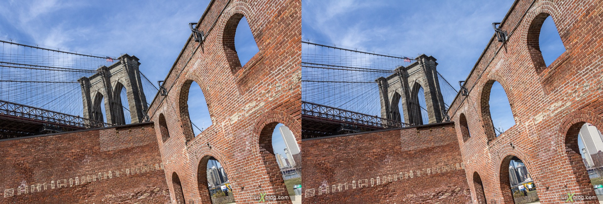 2013, Brooklyn, NYC, New York City, USA, 3D, stereo pair, cross-eyed, crossview, cross view stereo pair, stereoscopic