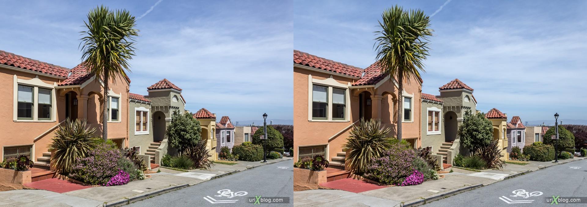 2013, Твин Пикс, Сан-Франциско, США, 3D, перекрёстные стереопары, стерео, стереопара, стереопары