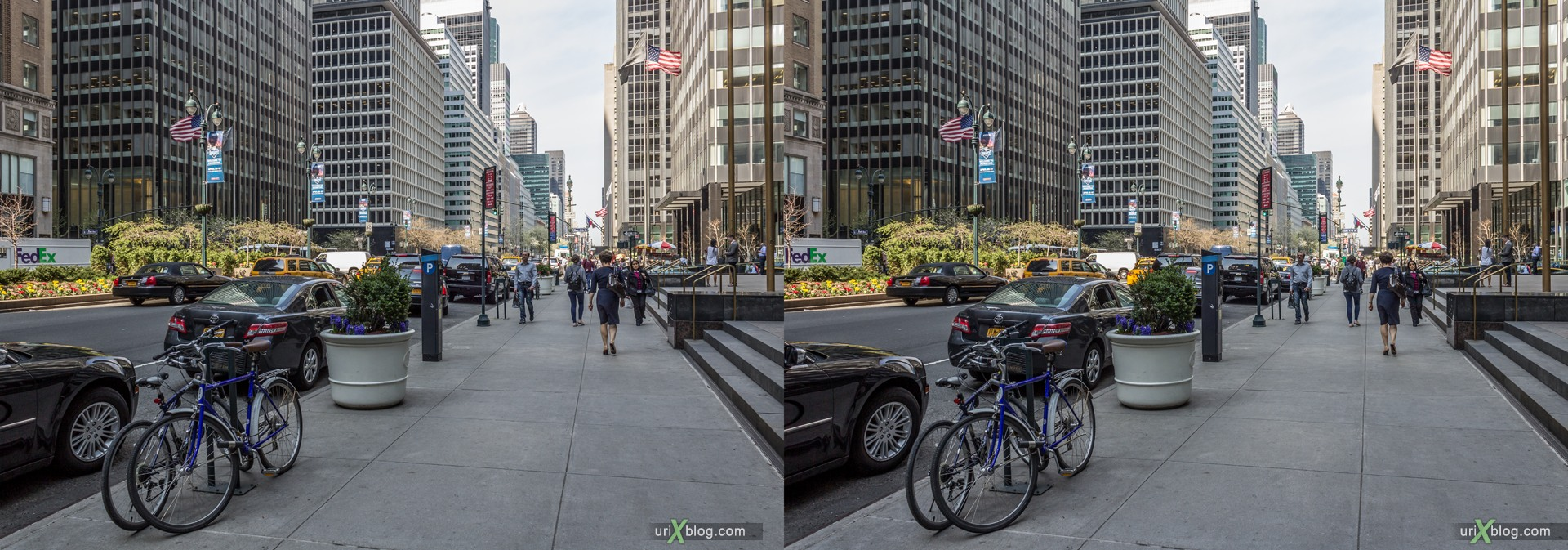 2013, Park Ave, NYC, New York City, USA, 3D, stereo pair, cross-eyed, crossview, cross view stereo pair, stereoscopic