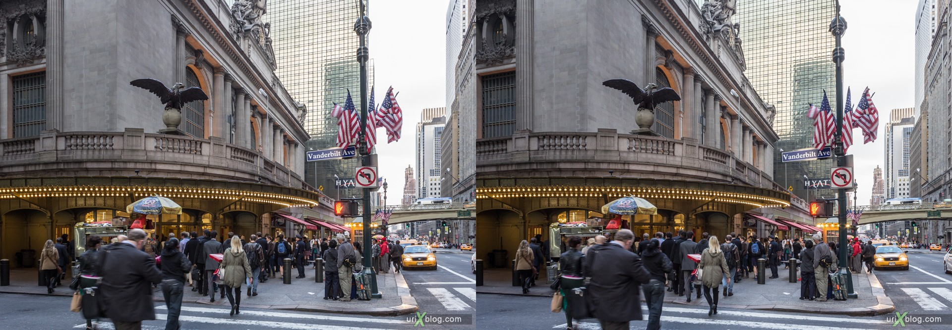 2013, Grand Central Terminal, Нью-Йорк, США, 3D, перекрёстные стереопары, стерео, стереопара, стереопары