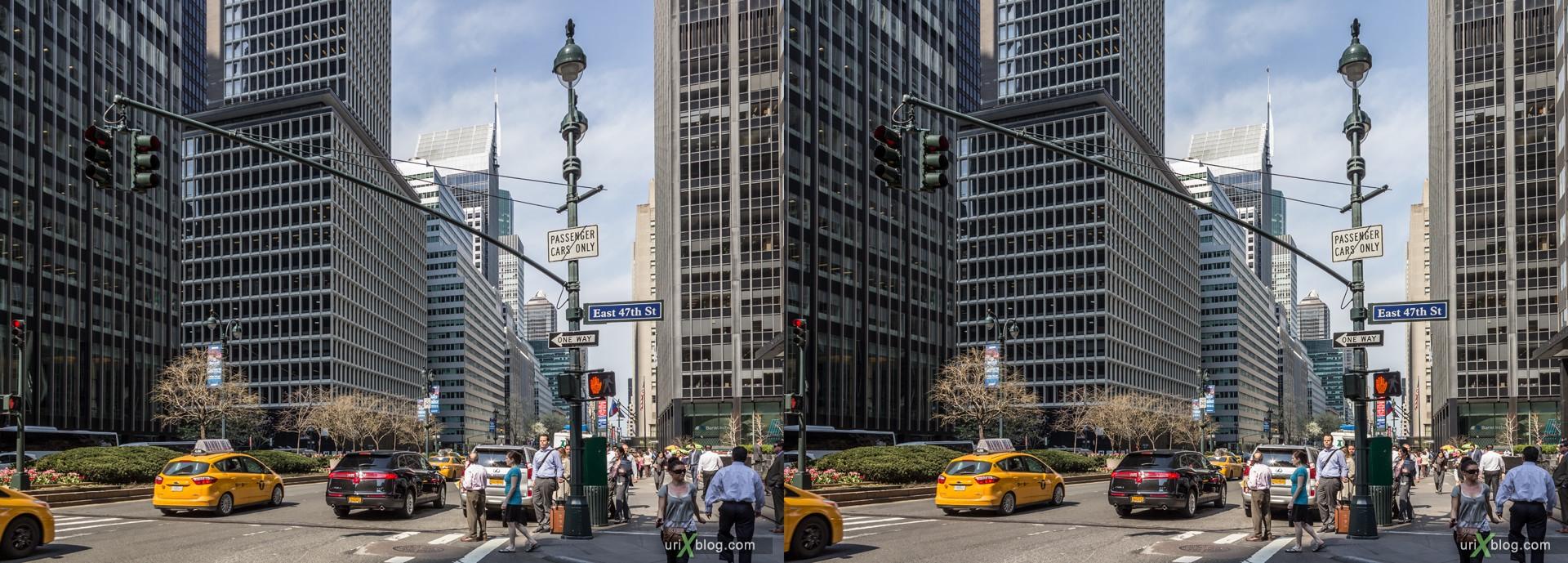 2013, Park Ave, Нью-Йорк, США, 3D, перекрёстные стереопары, стерео, стереопара, стереопары
